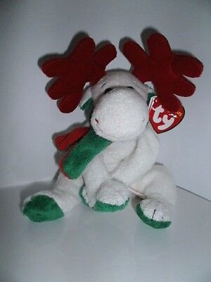 TY Beanie Baby - Moosletoe the Christmas Moose with hang tag