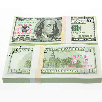 Practical 100pcs $100 US Dollar Currency Training World Banknote Supplies