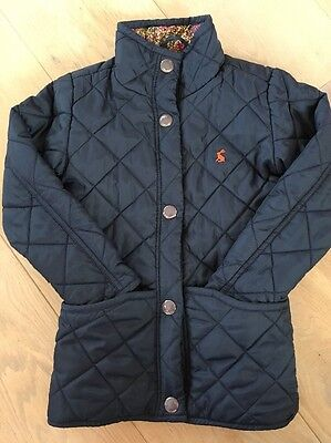 Excellent Condition Girls Navy Winter Quilted JOULES Coat Jacket Age 4 Years