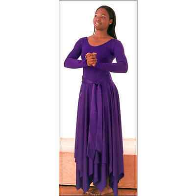 NWT Plus Size 3XL Hanky hem Purple Liturgical dance dress