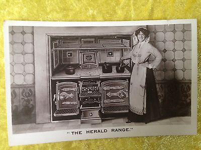 THE HERALD RANGE Victorian/Edwardian Stove Real Photograph Postcard c. 1910