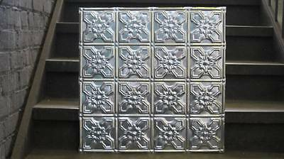Original Antique Design #6 Metal Ceiling Panel 24 In X 24 In 30 Ga. Nr $14.