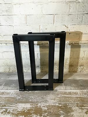 2 Handmade Raw Steel Bench Upcycle Furniture Table Seat Legs Industrial Style