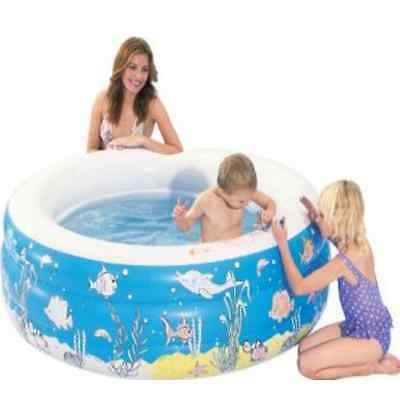 """Kids Outdoor Inflatable Water Doodle Pool - 60"""" X 20"""" with Washable Crayons"""