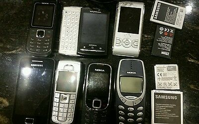 mobile phone battery and charger collection