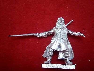 Warhammer Lord of the Rings metal reconditioned ARAGORN FELLOWSHIP