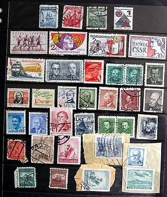 Selection of Czechoslovakia stamps used  - ref K2467 ALL UNCHECKED
