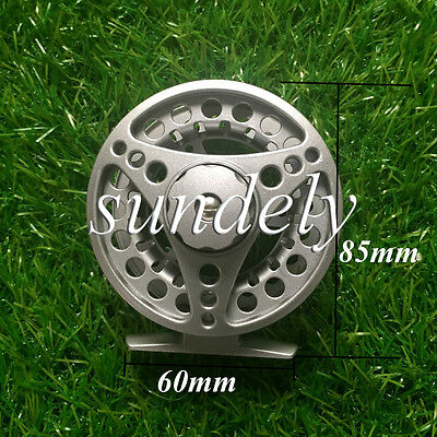 NEW! Silver Aluminum Fly Fishing Reel 5/6 Left and Right Hand Retrieve 85mm