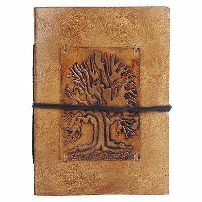 Rustic Town Ancient Tree of Life Embossed Leather Journal Leather Diary Gifts