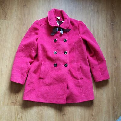 Girls Monsoon Pink Winter Coat Formal Jacket with cute bow detail  Age 11 - 12