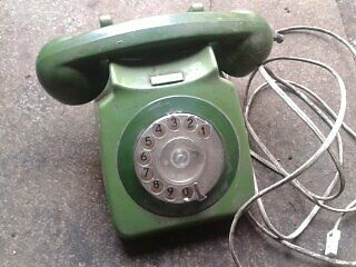80's Vintage Rotary Dial Telephone  BT