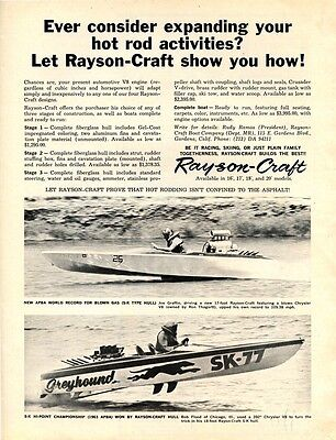 vintage 1964 Rayson-Craft Drag Boat ad, Modern Rod September 1964