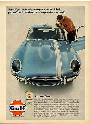 vintage Gulf Jaguar XKE Hot Rod June 1967