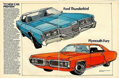 vintage 1972 New Car Preview, Motor Trend July 1971