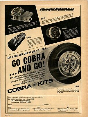 "vintage Shelby American ""Cobra Kits"" ad, Hot Rod June 1967"