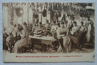 CPA Mirecourt Laberte Humbert Lutherie Vernissage Atelier carte postale ancienne
