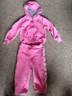 Converse Girls Pink Tracksuit Size 24 Months