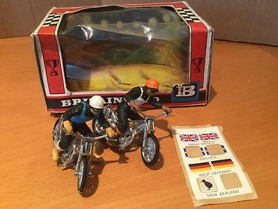 Britains Toys 9684 Speedway Racers Motorcycles 1/32 scale VNMIB