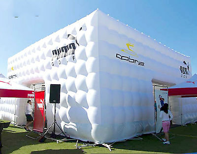 8mL x8mW x 4mH PORTABLE  INFLATABLE TENT WEDDING BOOTH ADVERTISING HOT AIR BAR