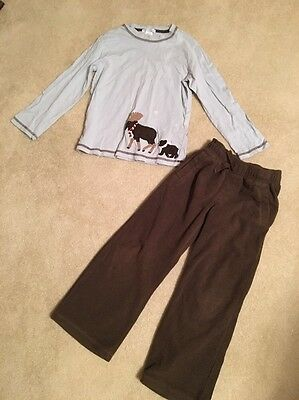 Euc Janie And Jack Boys Top/pants Outfit Set Lot Size 5