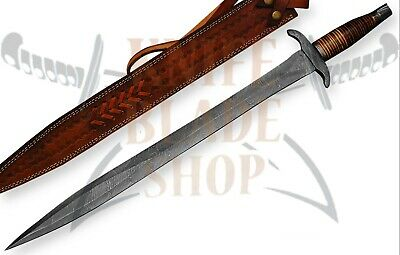 Damascus Sword,Handmade ROMAN GLADIUS SWORD.DAMASCUS HILTS, PAKKAWOOD HANDLE