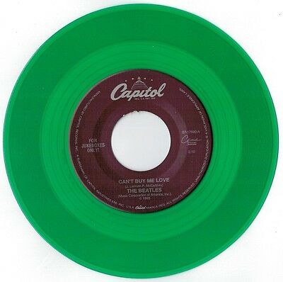 THE BEATLES Can't buy me love 45rpm 7' JUKEBOX 1993 US MINT- Green Vinyl