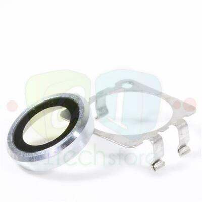 Apple iPhone 6S 4.7 Replacement Camera Lens Cover Silver Glass + Bracket Part