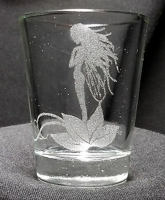 Fairy etched shot glass. Can be personalized. Different designs available!!