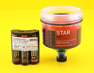 Perma Star S60 Grease Lubricant Cartridge / Canister , 60cm Cubed ( Pack of 20 )