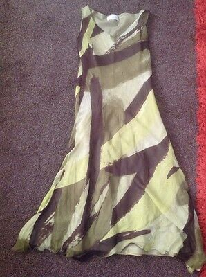 Stunning Green Fully Lined Silk Dress From Minuet Size 12