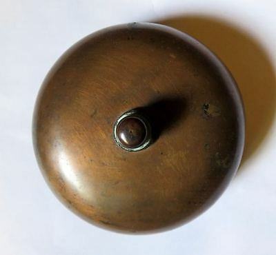 Antique Sargent & Co Brass Mechanical Doorbell