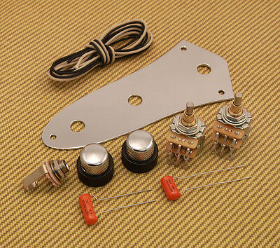 SKB-KIT Stack Knob Wiring Kit w/Knobs & Control Plate for '62 Fender Jazz Bass®