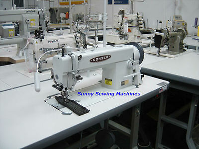 Consew 205RB-1 Walking Foot Sewing Machine for Leather w/ Large Bobbin & Servo