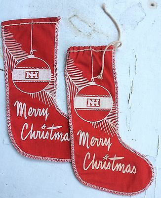 TWO Vintage   NEW HOLLAND Christmas Stockings.