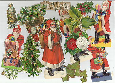 Victorian Edwardian Christmas Scraps - Ideal Greetings Cards And Parcels Lot Two