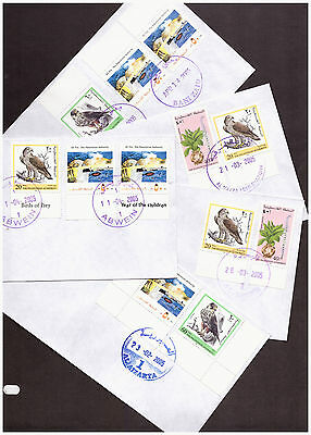 Palestinian Authority 24 philatelic Town covers, 4 with Intifada labels