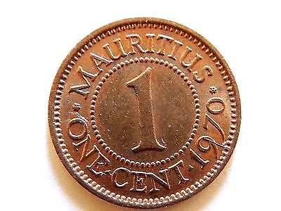 1970 Mauritius One (1) Cent Coin