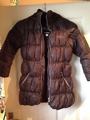 Girls Brown Next Winter Coat Quilted Age 7-8 Yrs