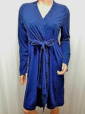 OH BABY by Motherhood Multi-Color Long Sleeve Maternity Robe Sz M