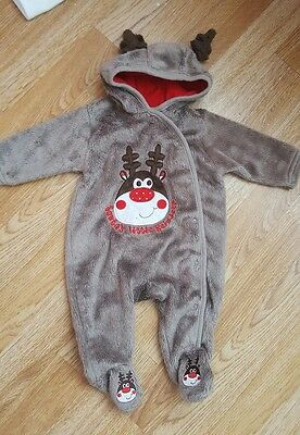 FREE P&P unisex baby christmas costume size 0-3 months