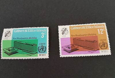 Gilbert & Ellice Islands 1966 WHO New Headquarters Buildings 2v MNH