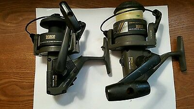 Zebco PS50 Pro Staff Spinning Fishing Reel x 2 225 Yards 14Lb & 205 Yds 35Lb