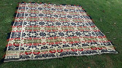 1841 Jaquard Coverlet Signed Manufactured by Jos. Klar 1841