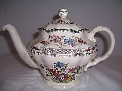 Vtg China Teapot Spode England, Chinese Rose Lrg 5-cup Xlnt Discontinued