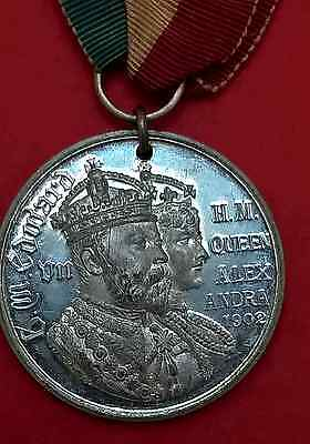 Hm King Edward Vii Hm Queen Alexandra 1902 Kingston Upon Thames Coronation Medal