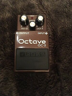 Boss OC-2 Octave Octaver Guitar Bass Synth Effects Pedal Rare Black Label