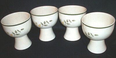 Royal Doulton England: 4 Lambethware WILL O' THE WISP Goblets: L.S. 1023: VGC:NR