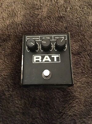 Rare Vintage Pro Co RAT LM308N Chip USA Made Distortion Guitar Effects Pedal