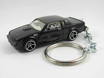 1987 BUICK GRAND NATIONAL Turbo V6 Coupe Black Key Chain FOB Keyring Keychain