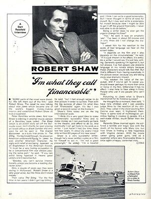 Robert Shaw : I'm What They Call Financeable Article & Picture